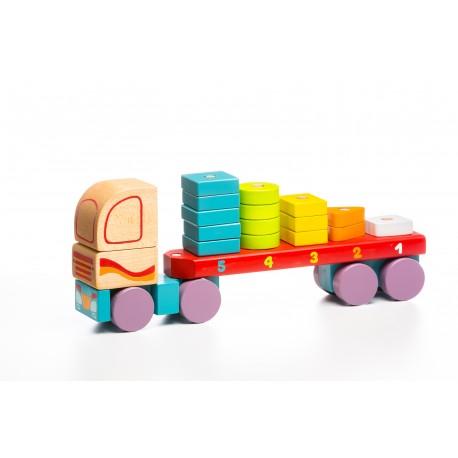 Drewniana ciężarówka-sorter