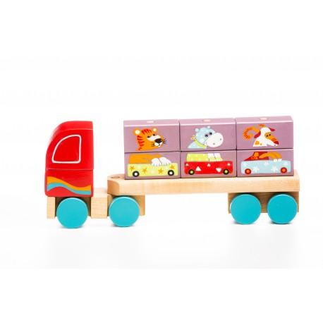 Ciężarówka sorter z klockami