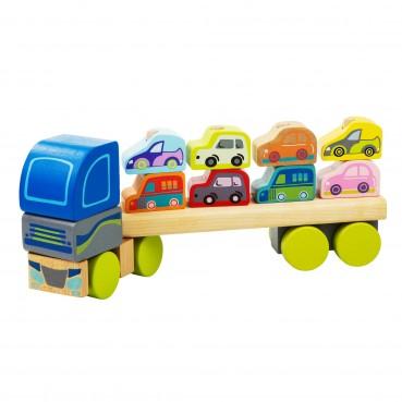 Ciężarówka sorter z samochodami