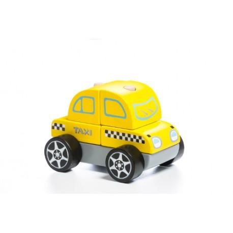Drewniany samochodzik Taxi
