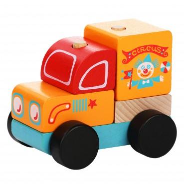 Drewniany wóz cyrkowy