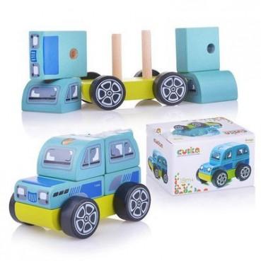 Drewniany jeep Cubika