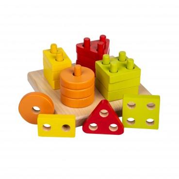 Drewniany sorter kolory/kształty (kwadratowy)