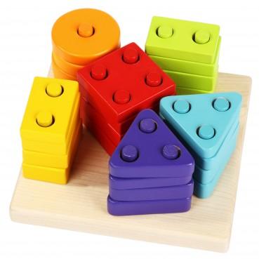 Drewniany sorter figury geometryczne
