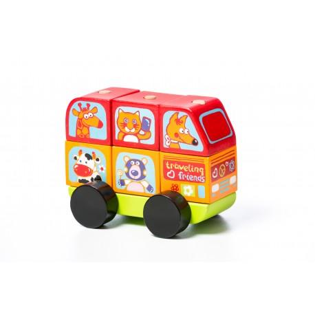 Cubika, Drewniany samochodzik Mini-bus LM-10
