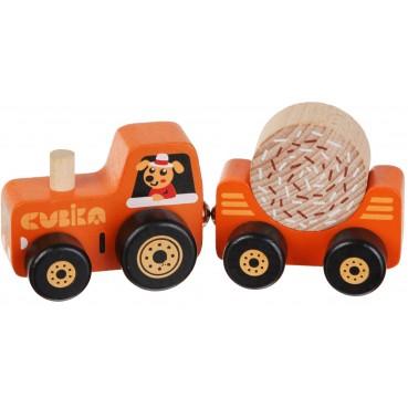 Cubika, Drewniany traktor z magnesami