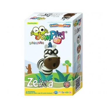 Jumping Clay, Zestaw kreatywny sawanna Zebra